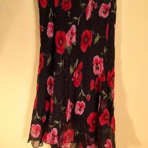Polka dot poppy skirt